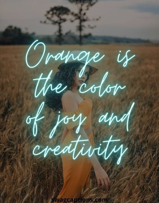 Orange Outfit Captions for Instagram